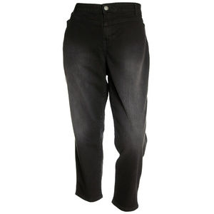 Black Denim Mid-Rise Ankle Length Jeans NEW Plus
